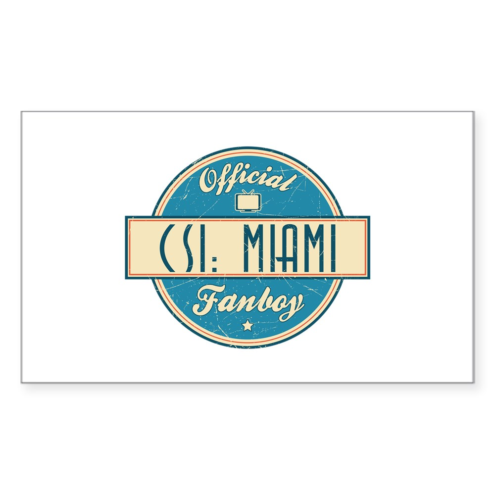Official CSI: Miami Fanboy Rectangle Sticker