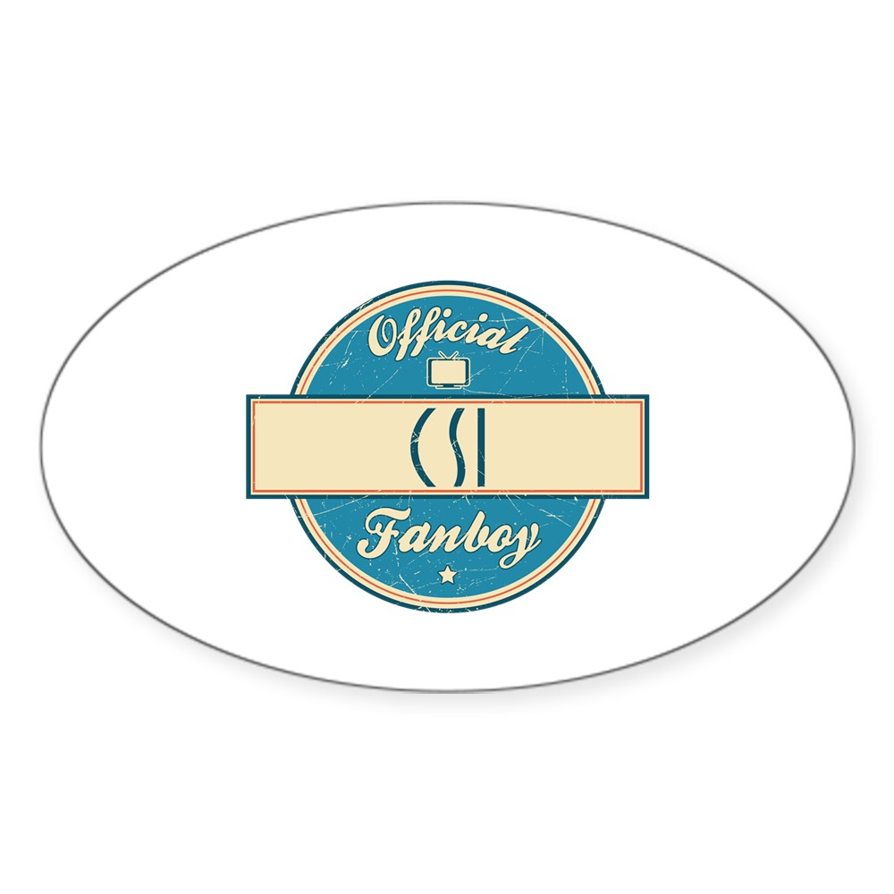 Official CSI Fanboy Oval Sticker