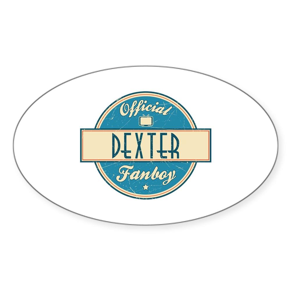 Official Dexter Fanboy Oval Sticker