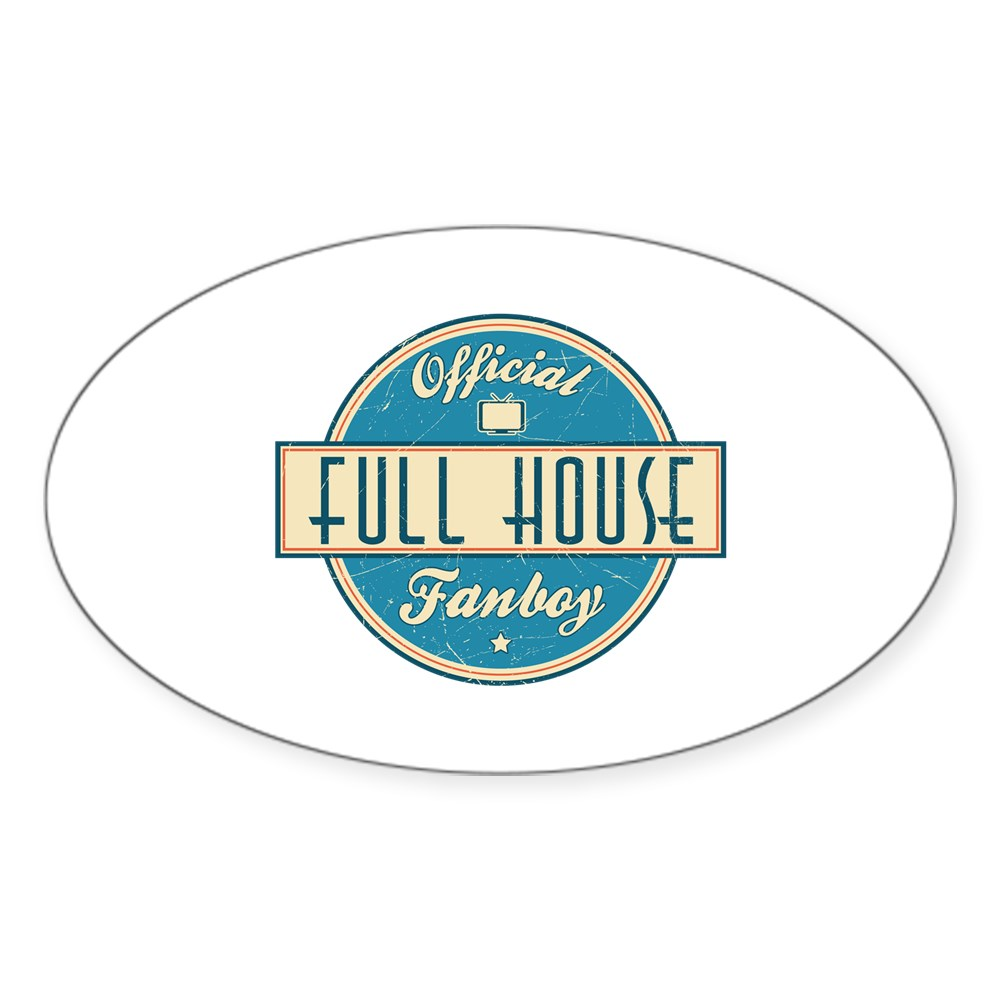 Official Full House Fanboy Oval Sticker