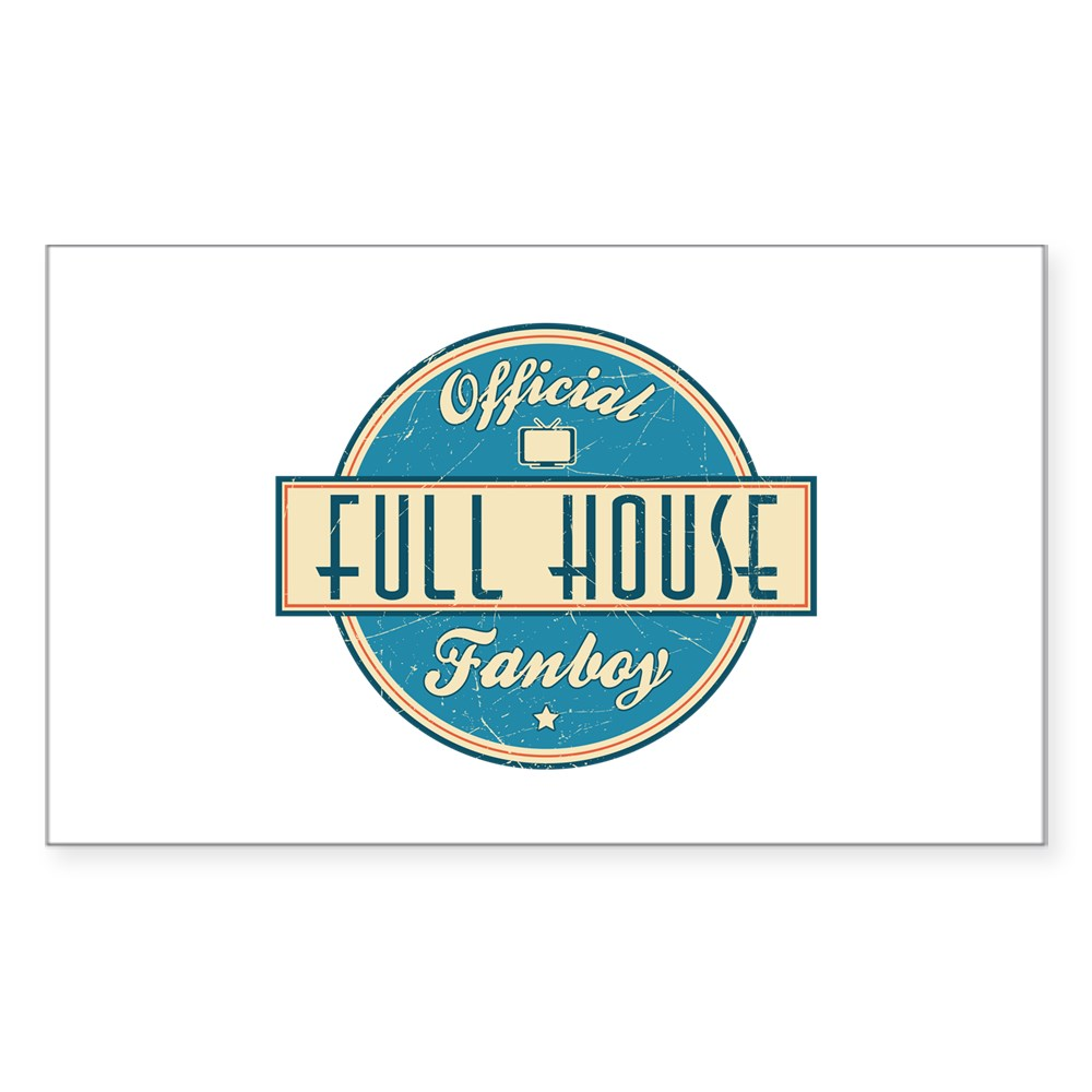 Official Full House Fanboy Rectangle Sticker