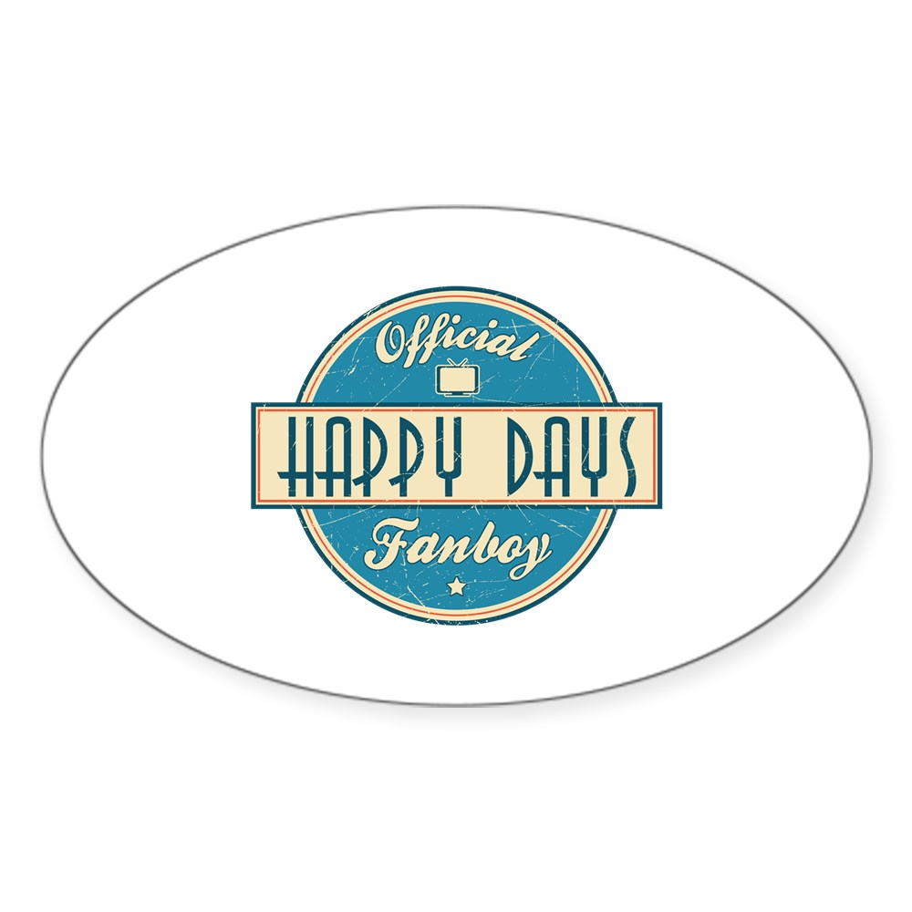 Official Happy Days Fanboy Oval Sticker