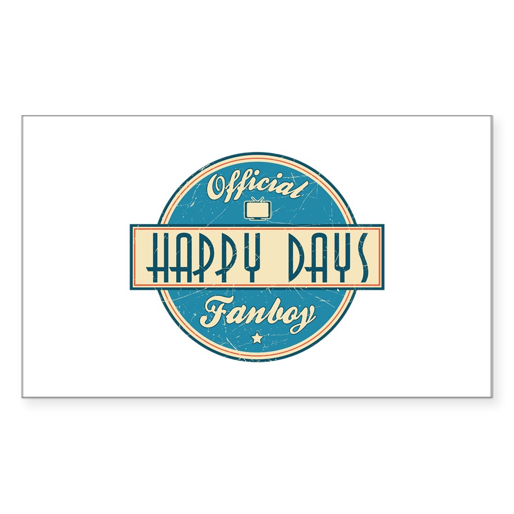 Official Happy Days Fanboy Rectangle Sticker