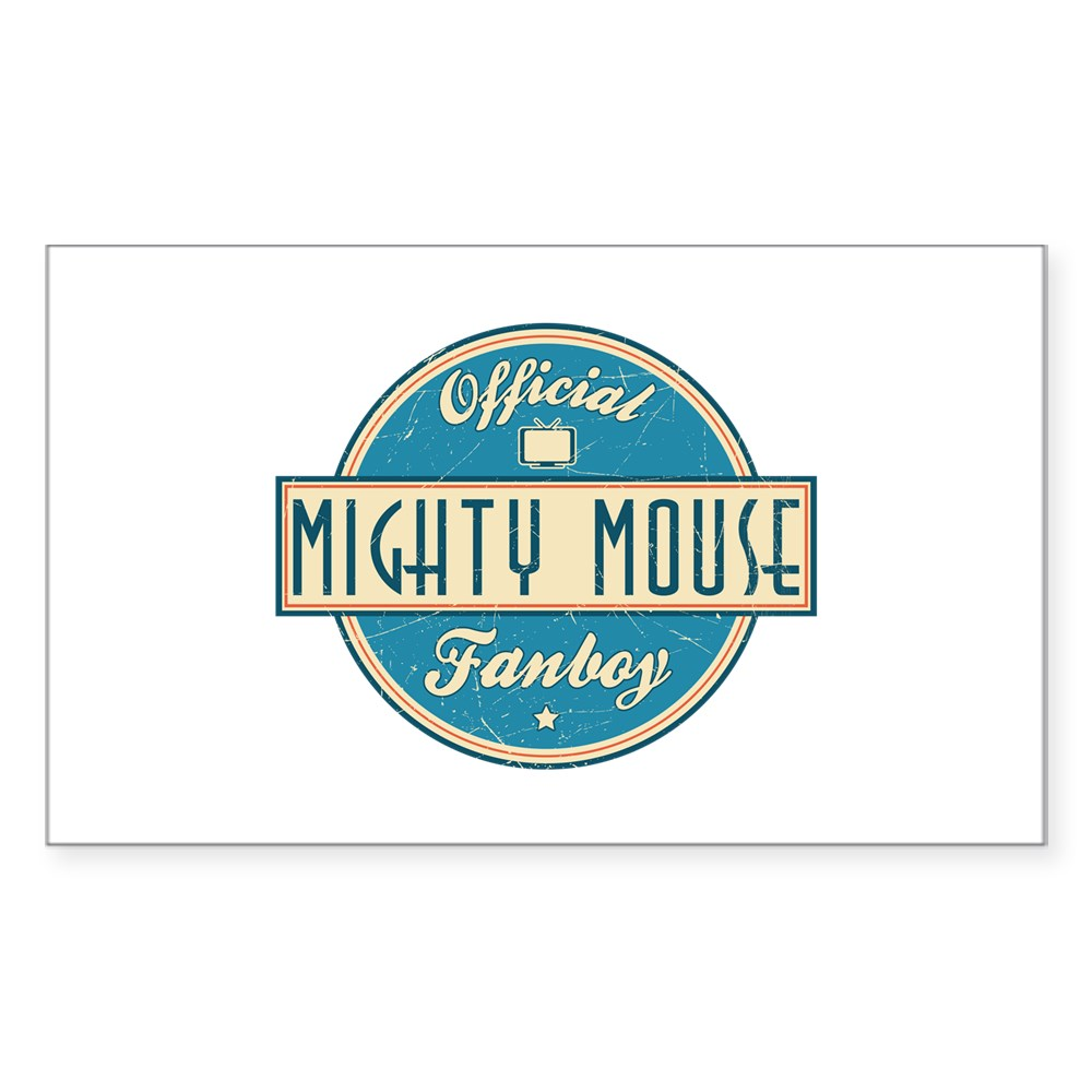 Official Mighty Mouse Fanboy Rectangle Sticker