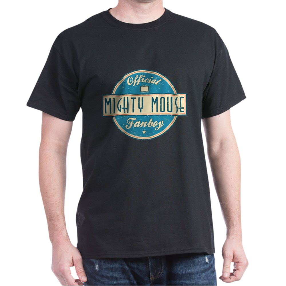 Official Mighty Mouse Fanboy Dark T-Shirt