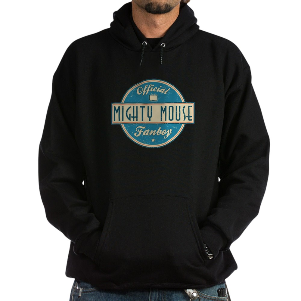 Official Mighty Mouse Fanboy Dark Hoodie