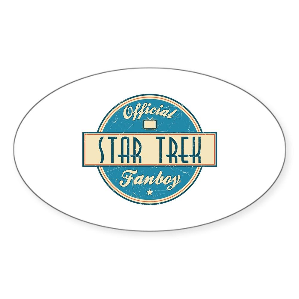 Official Star Trek Fanboy Oval Sticker