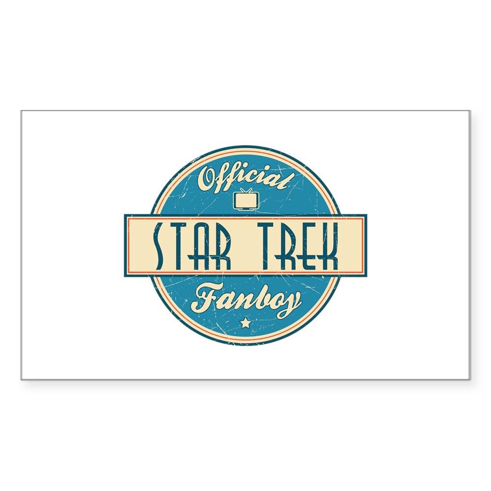 Official Star Trek Fanboy Rectangle Sticker
