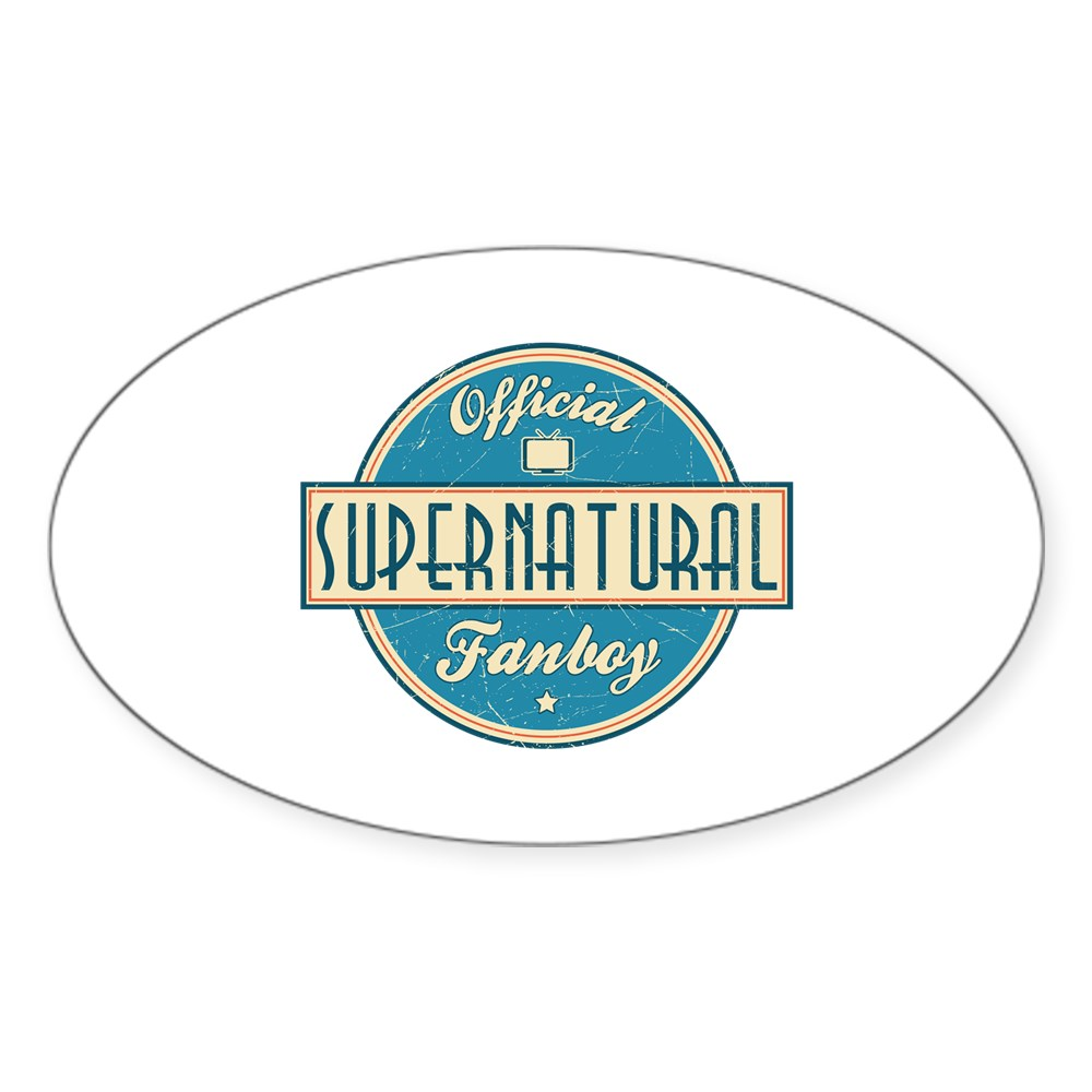 Official Supernatural Fanboy Oval Sticker