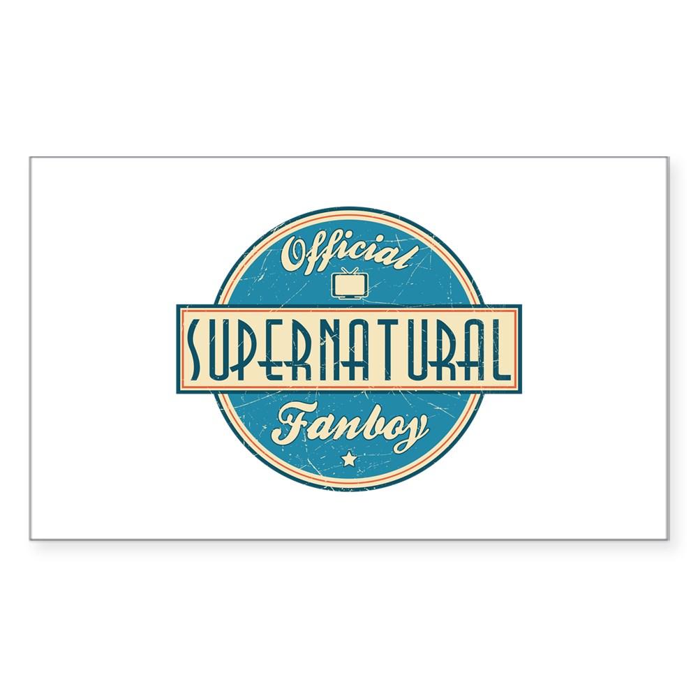 Official Supernatural Fanboy Rectangle Sticker