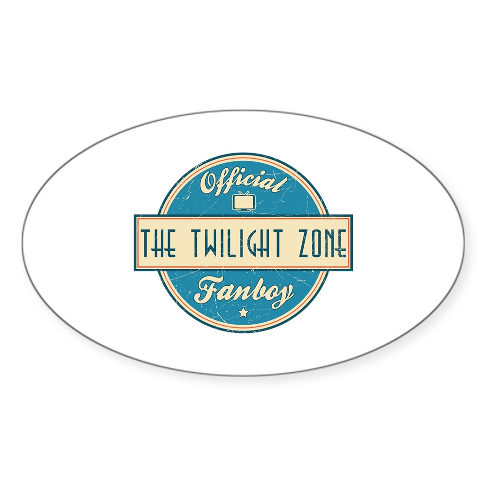 Official The Twilight Zone Fanboy Oval Sticker