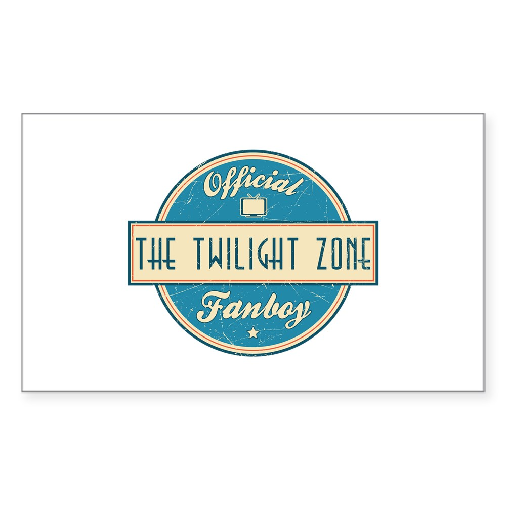 Official The Twilight Zone Fanboy Rectangle Sticker
