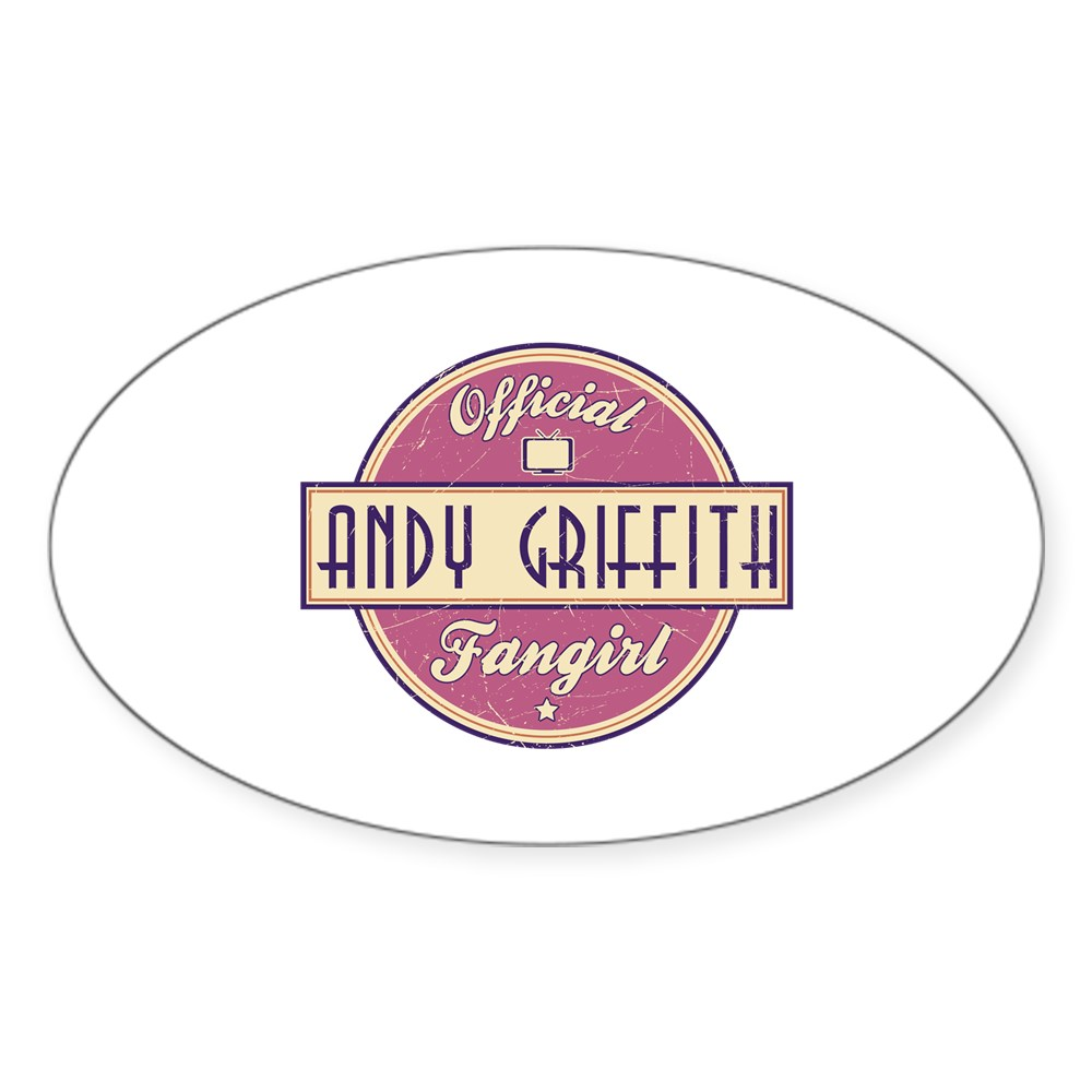 Official Andy Griffith Fangirl Oval Sticker