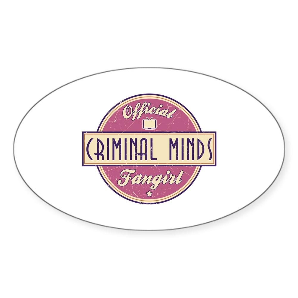 Official Criminal Minds Fangirl Oval Sticker