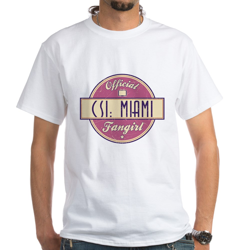 Official CSI: Miami Fangirl White T-Shirt
