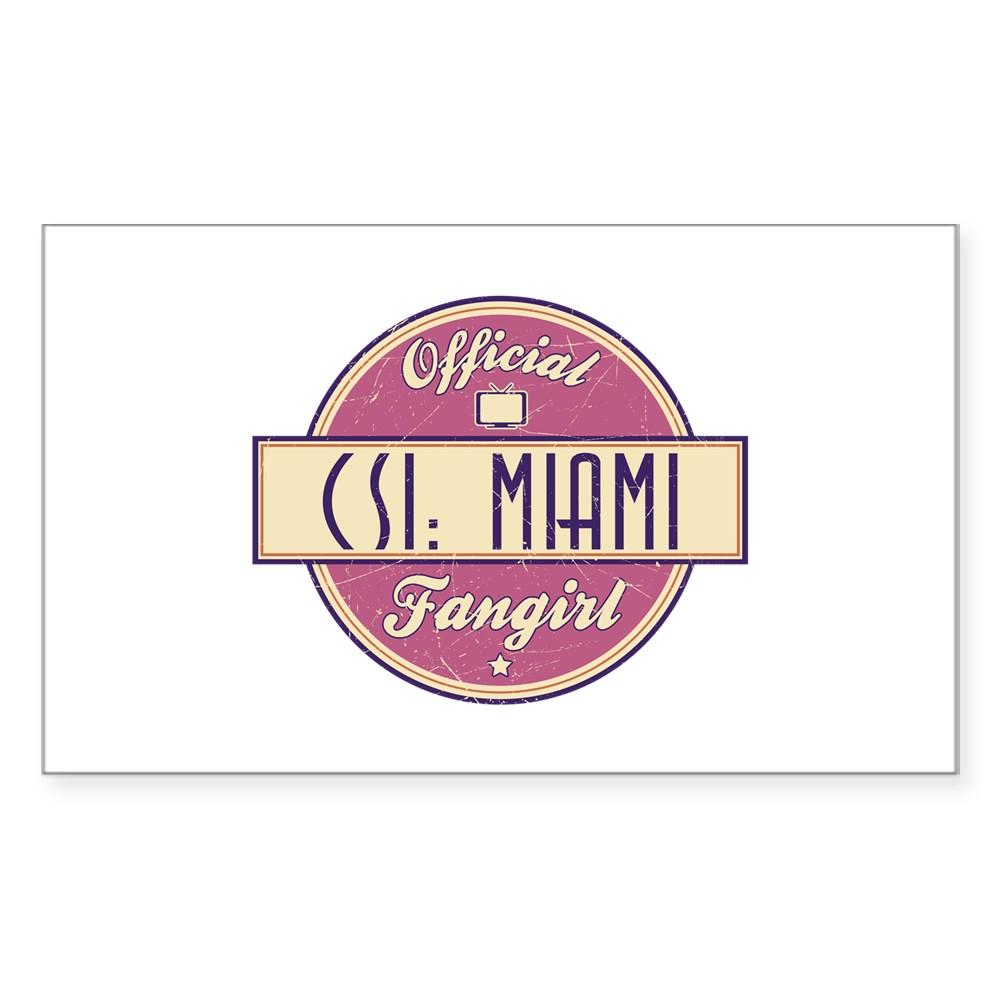 Official CSI: Miami Fangirl Rectangle Sticker
