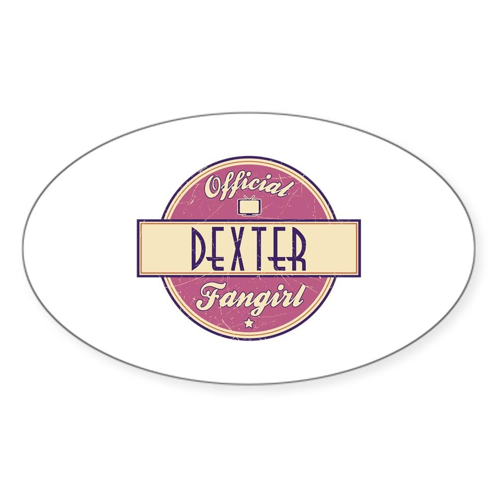 Official Dexter Fangirl Oval Sticker
