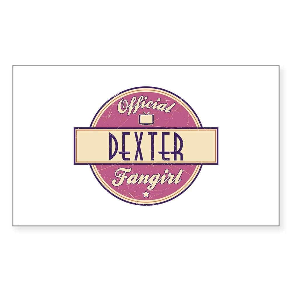 Official Dexter Fangirl Rectangle Sticker