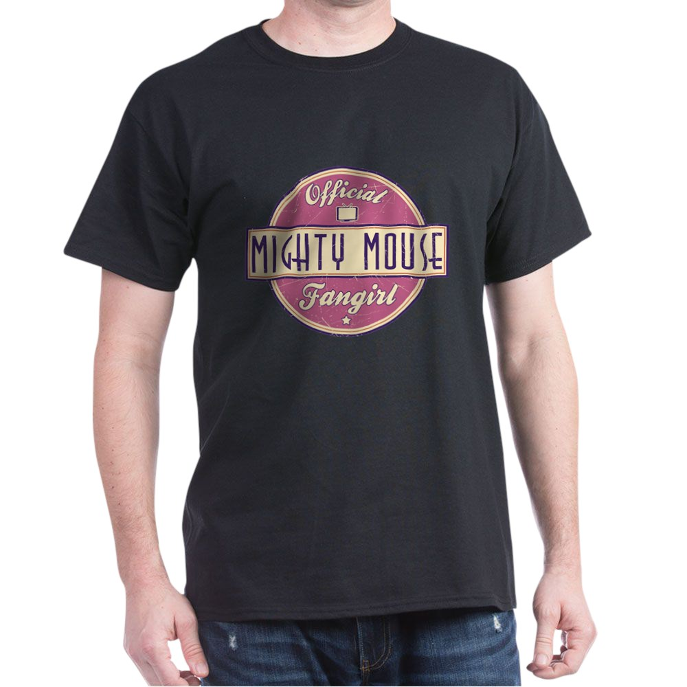 Official Mighty Mouse Fangirl Dark T-Shirt