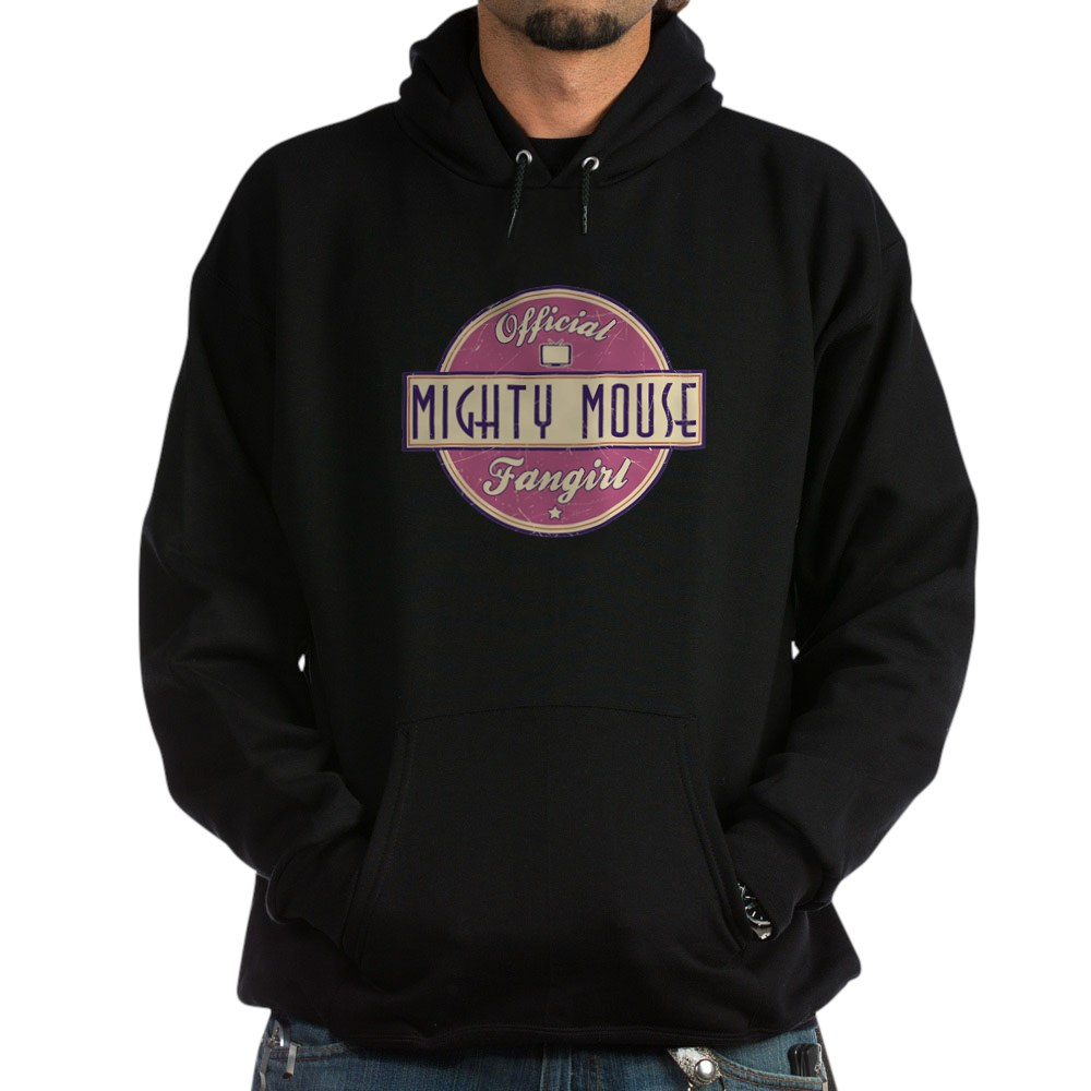 Official Mighty Mouse Fangirl Dark Hoodie
