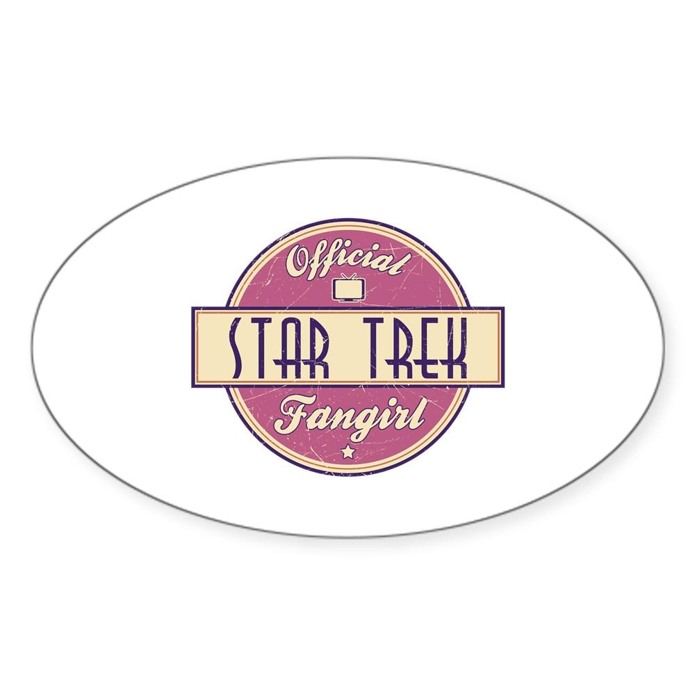 Official Star Trek Fangirl Oval Sticker