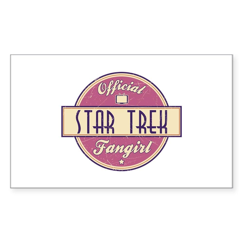 Official Star Trek Fangirl Rectangle Sticker