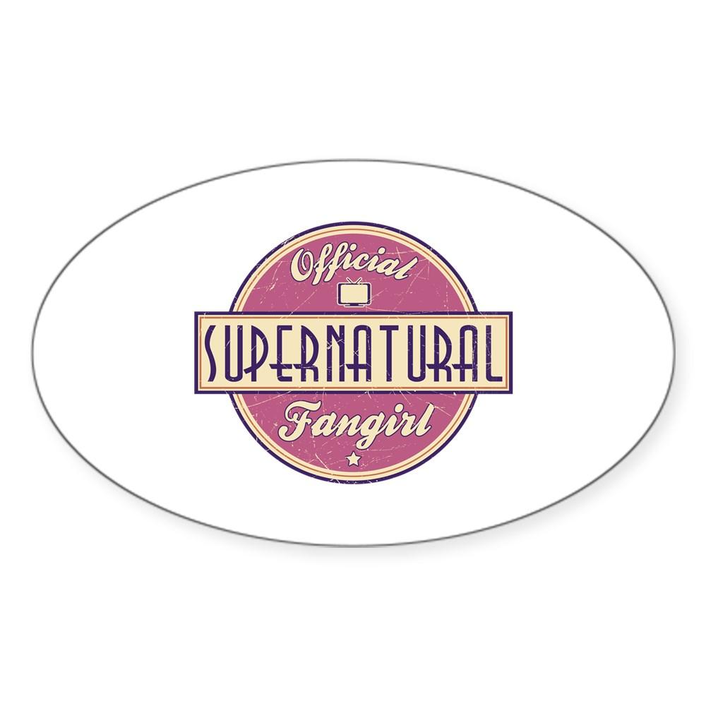 Official Supernatural Fangirl Oval Sticker