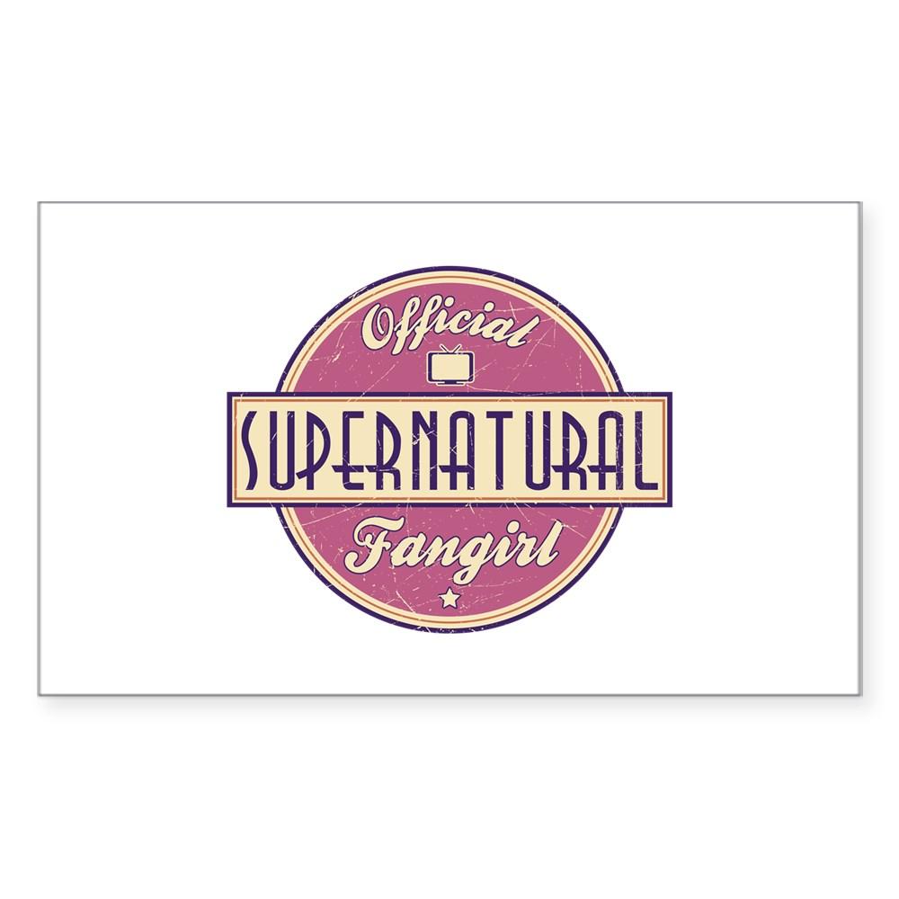 Official Supernatural Fangirl Rectangle Sticker
