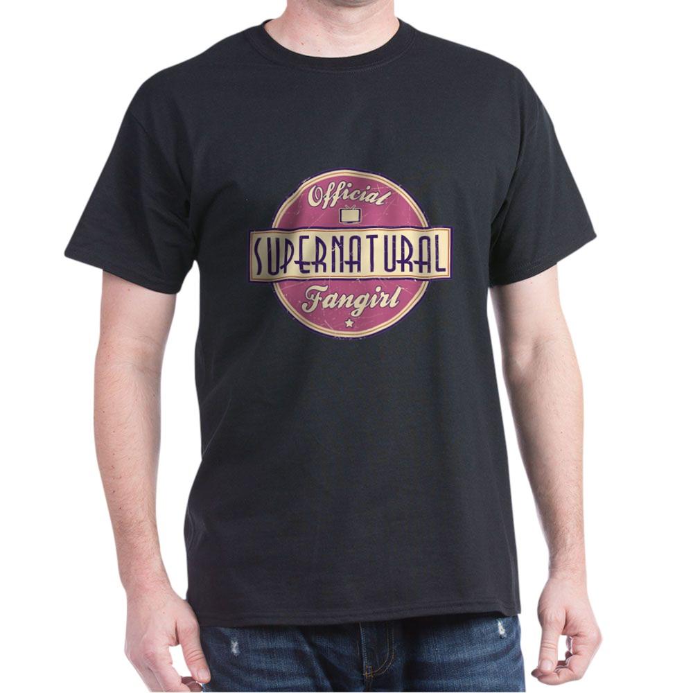 Official Supernatural Fangirl Dark T-Shirt
