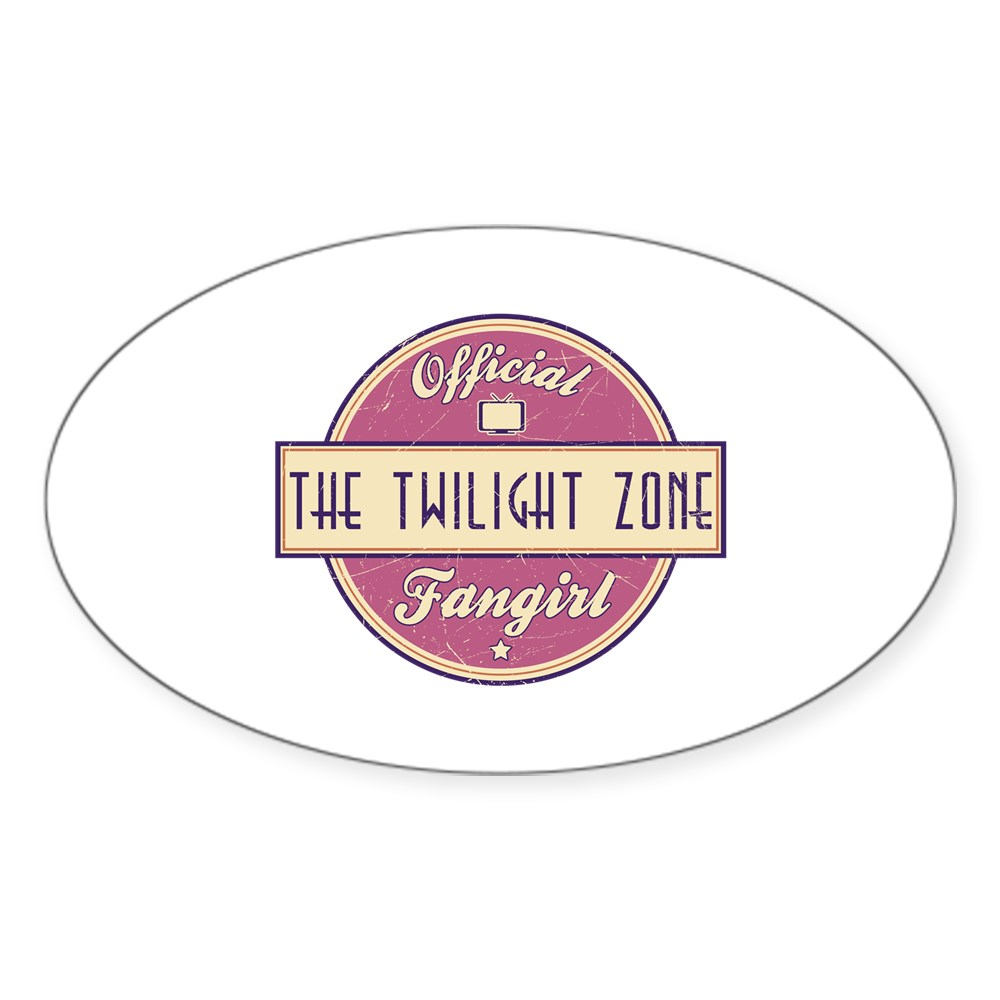 Official The Twilight Zone Fangirl Oval Sticker