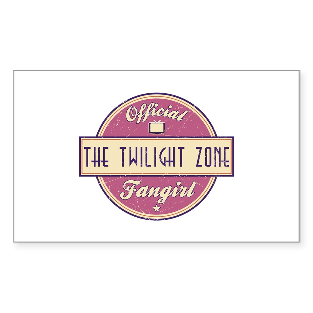 Official The Twilight Zone Fangirl Rectangle Sticker