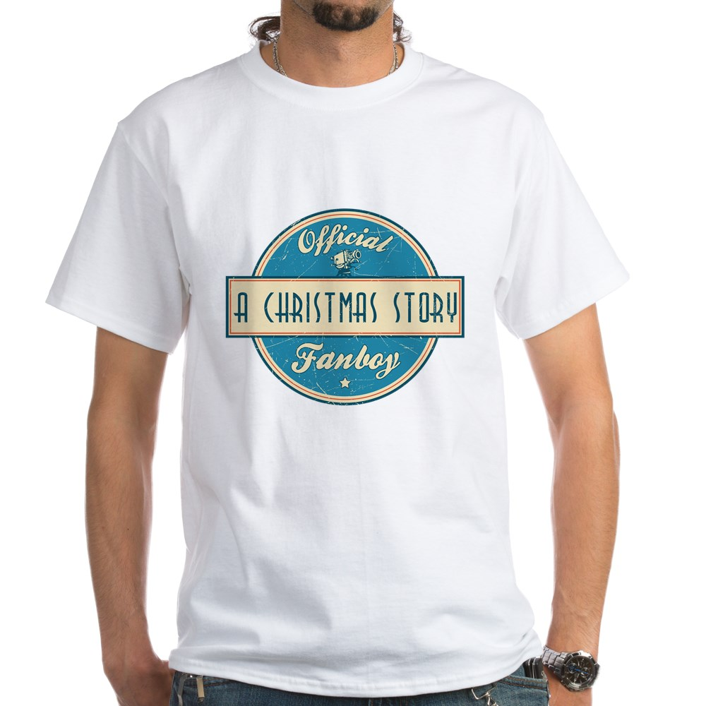 Official A Christmas Story Fanboy White T-Shirt