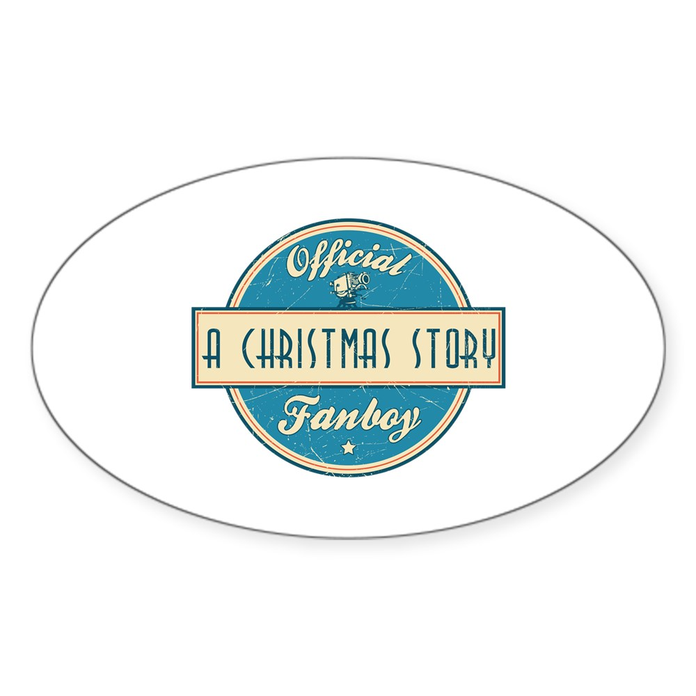 Official A Christmas Story Fanboy Oval Sticker