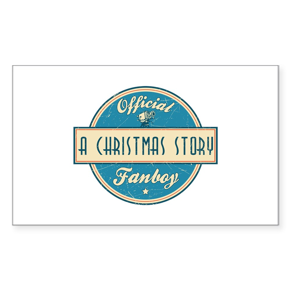 Official A Christmas Story Fanboy Rectangle Sticker