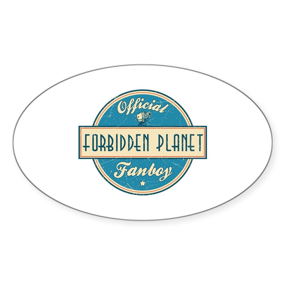 Official Forbidden Planet Fanboy Oval Sticker