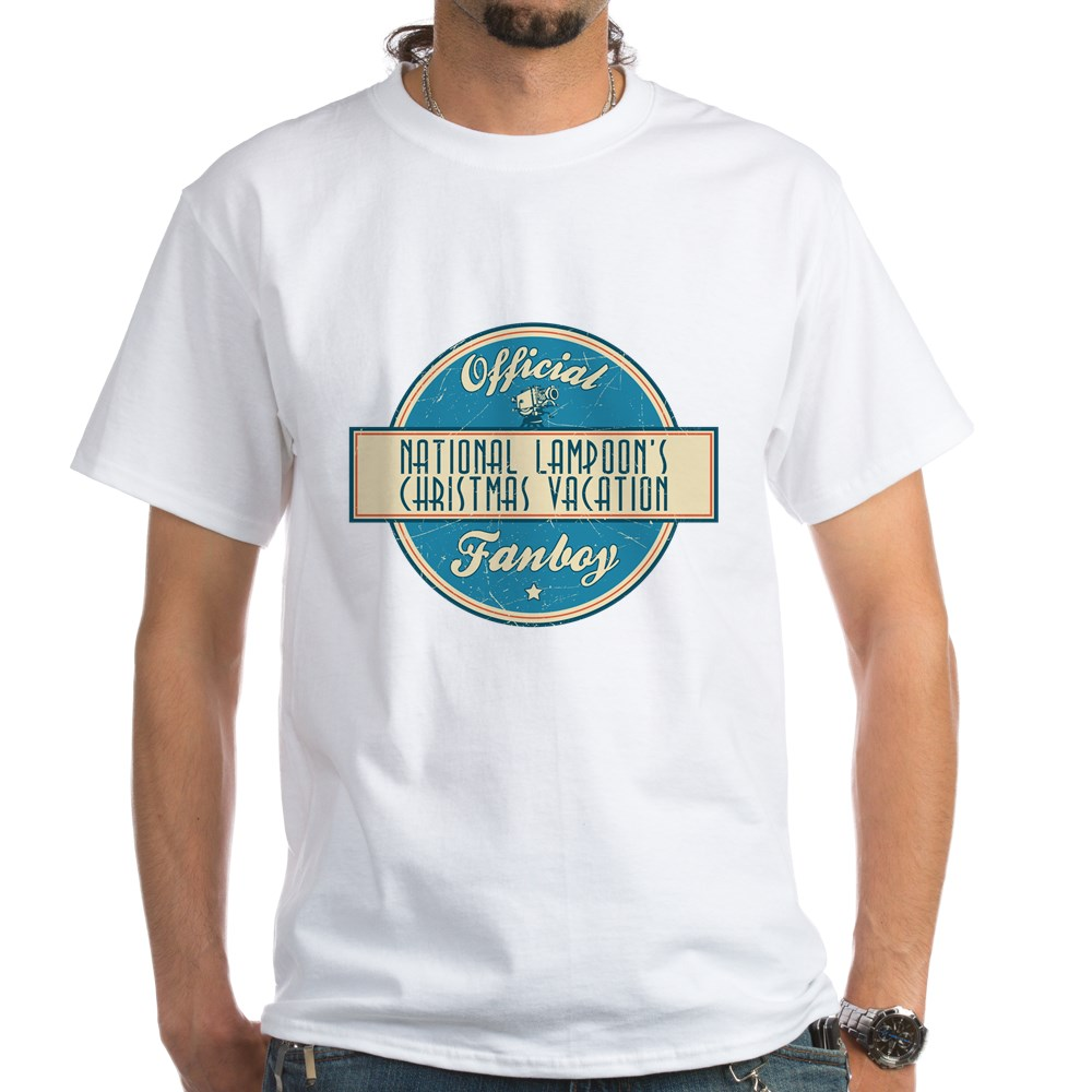 Official National Lampoon's Christmas Vacation Fanboy White T-Shirt