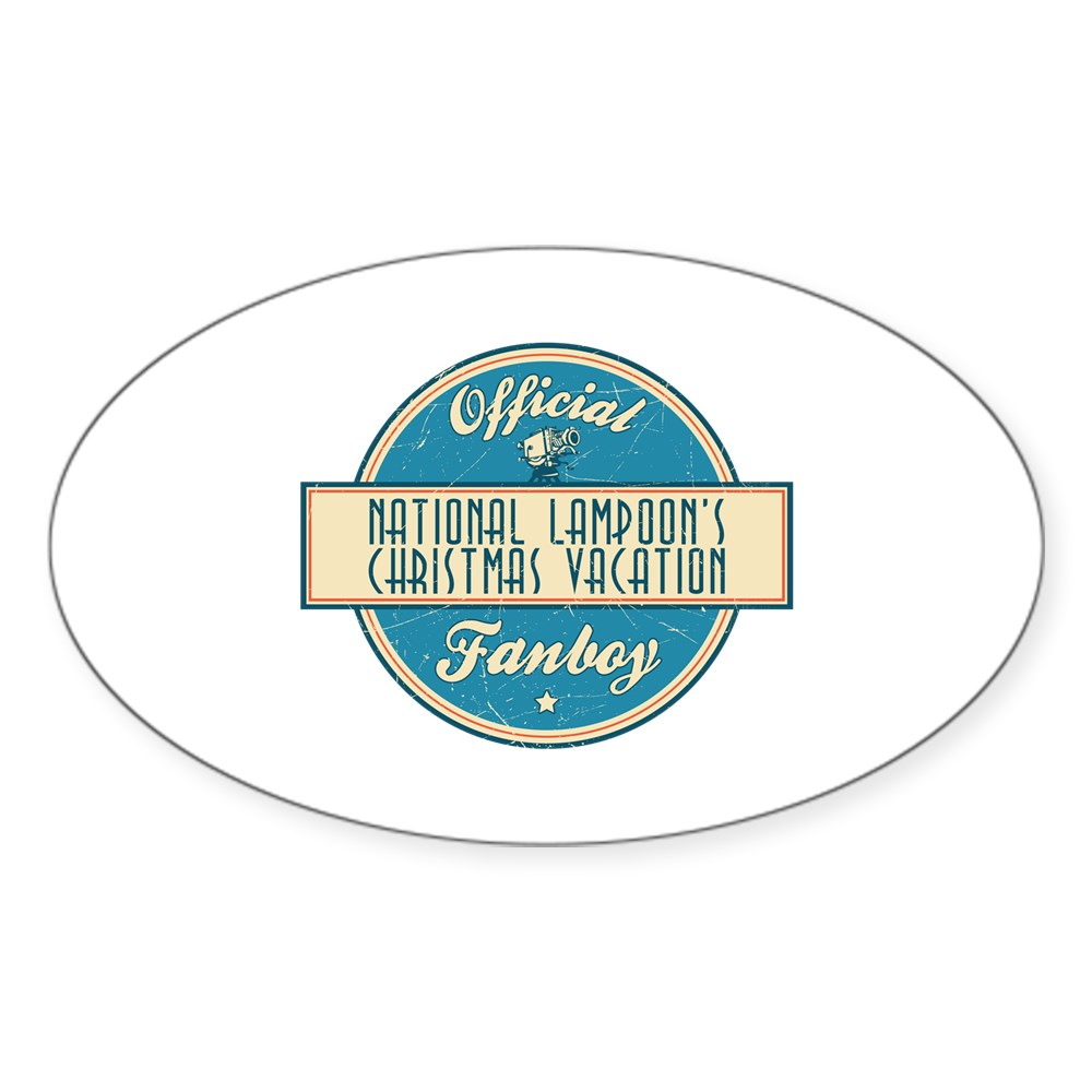 Official National Lampoon's Christmas Vacation Fanboy Oval Sticker