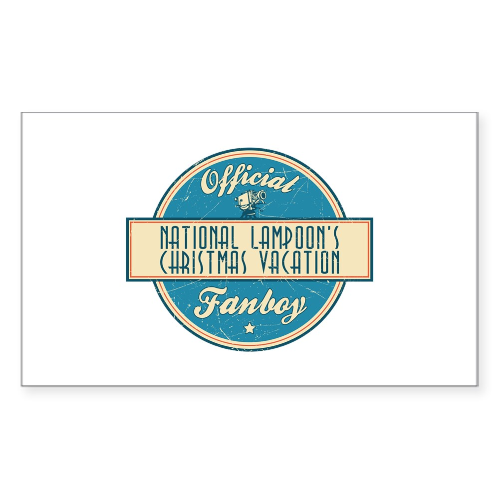 Official National Lampoon's Christmas Vacation Fanboy Rectangle Sticker