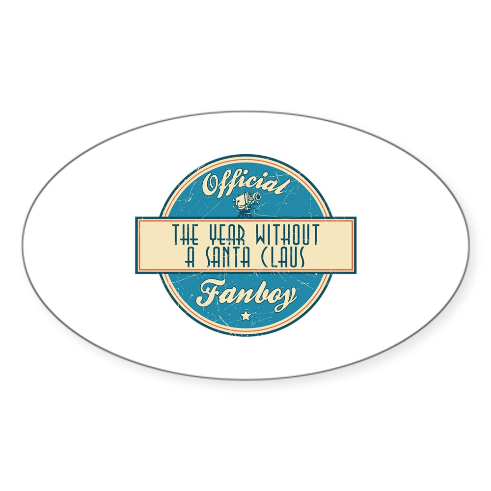 Official The Year Without a Santa Claus Fanboy Oval Sticker