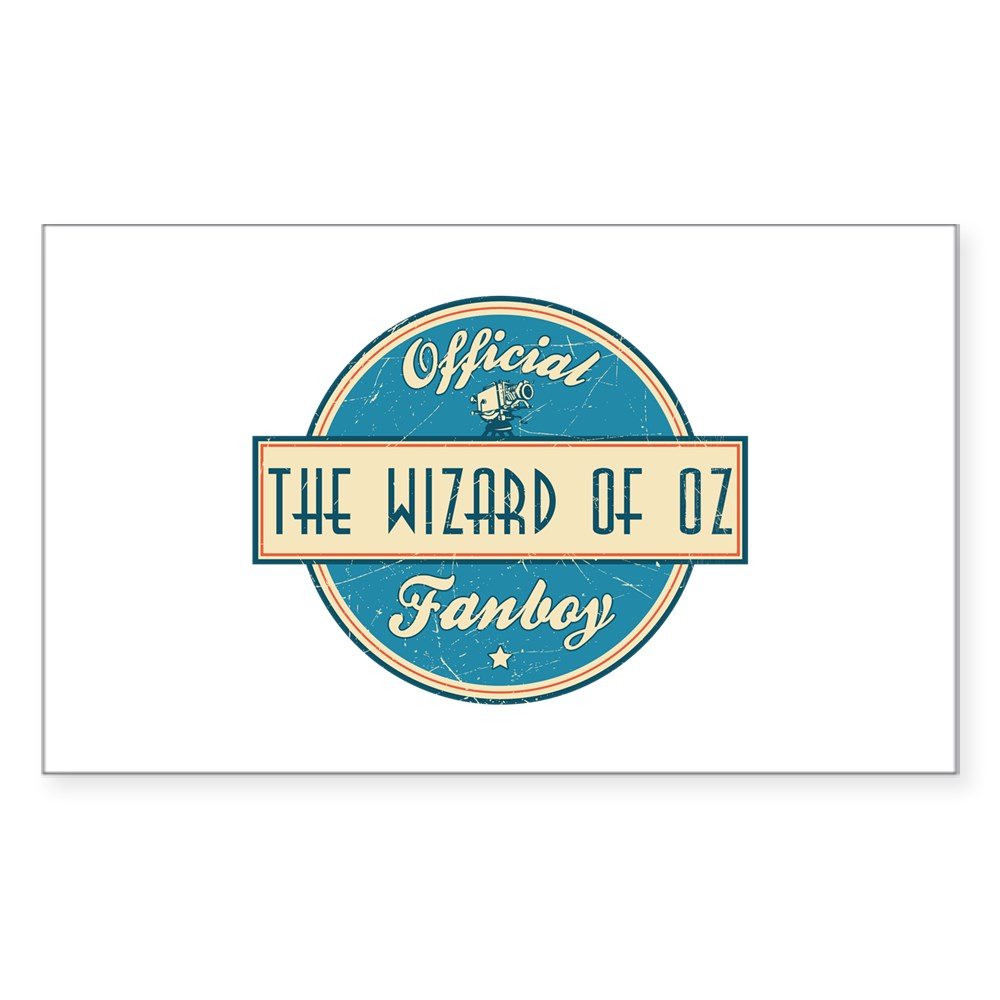 Official The Wizard of Oz Fanboy Rectangle Sticker