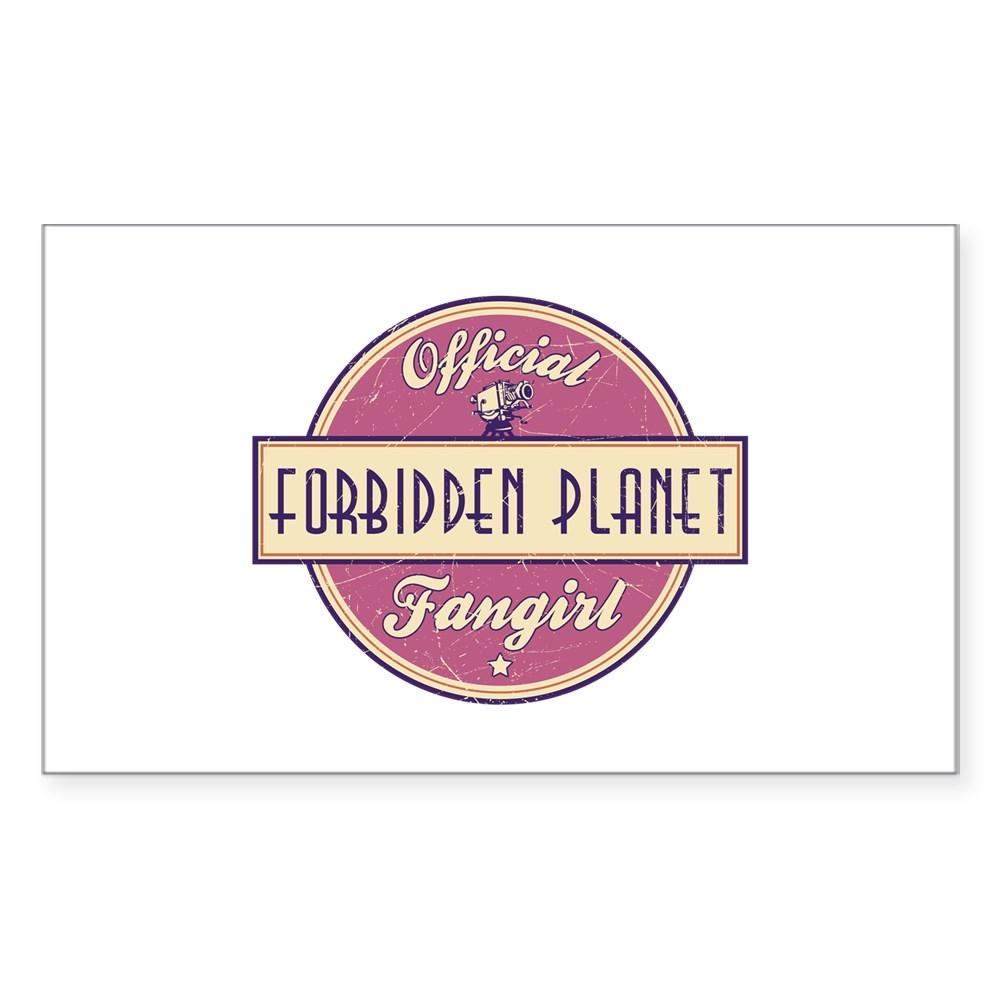 Official Forbidden Planet Fangirl Rectangle Sticker