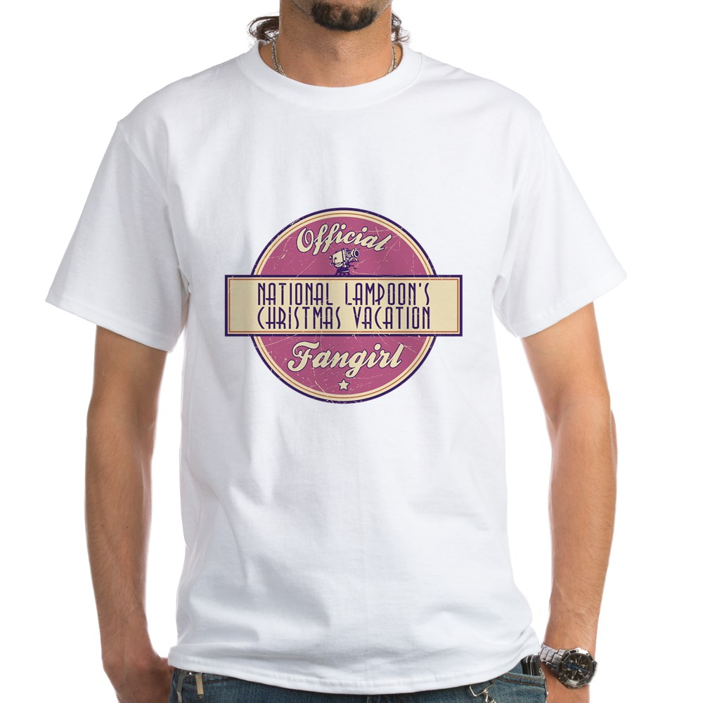 Official National Lampoon's Christmas Vacation Fangirl White T-Shirt