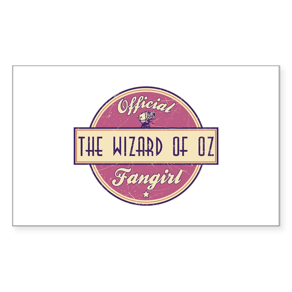Official The Wizard of Oz Fangirl Rectangle Sticker