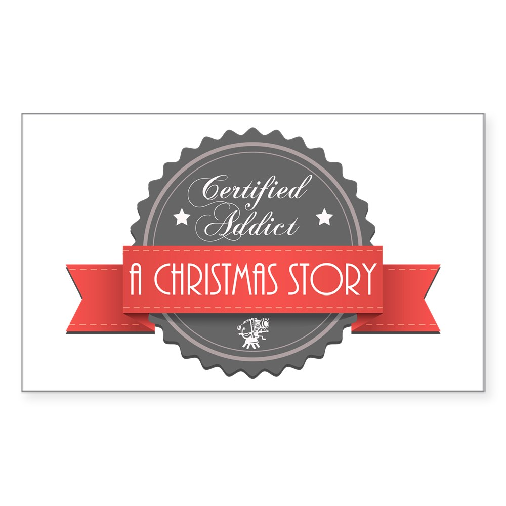 Certified Addict: A Christmas Story  Rectangle Sticker