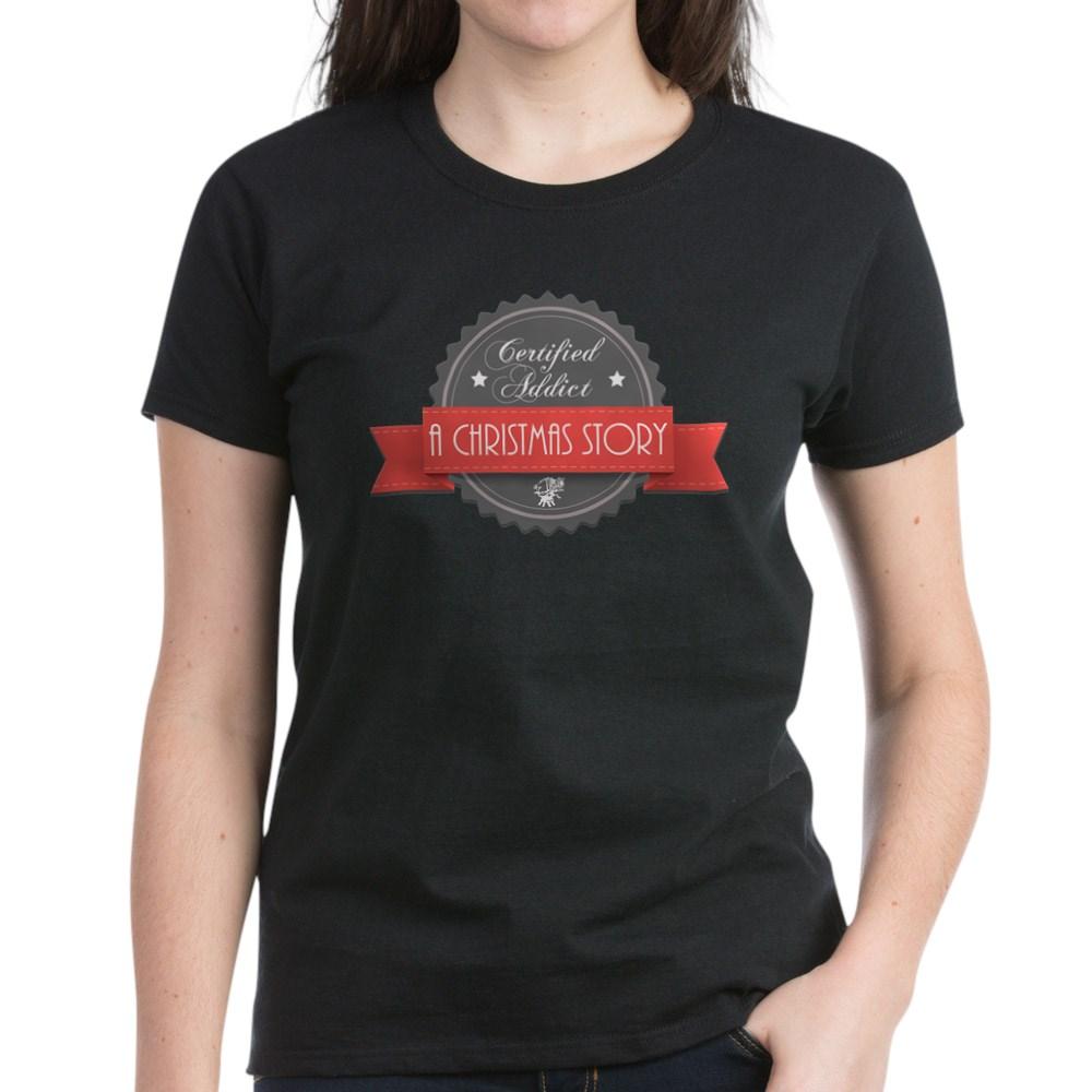 Certified Addict: A Christmas Story  Women's Dark T-Shirt