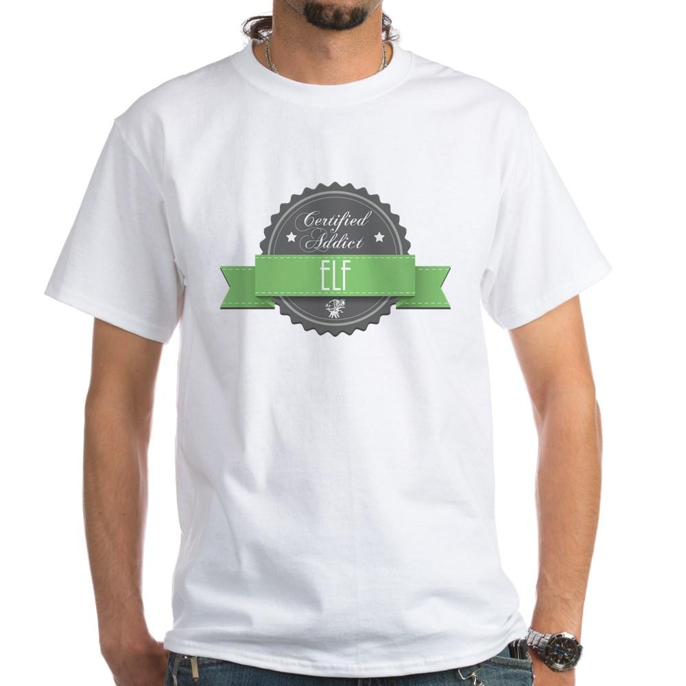 Certified Addict: Elf  White T-Shirt