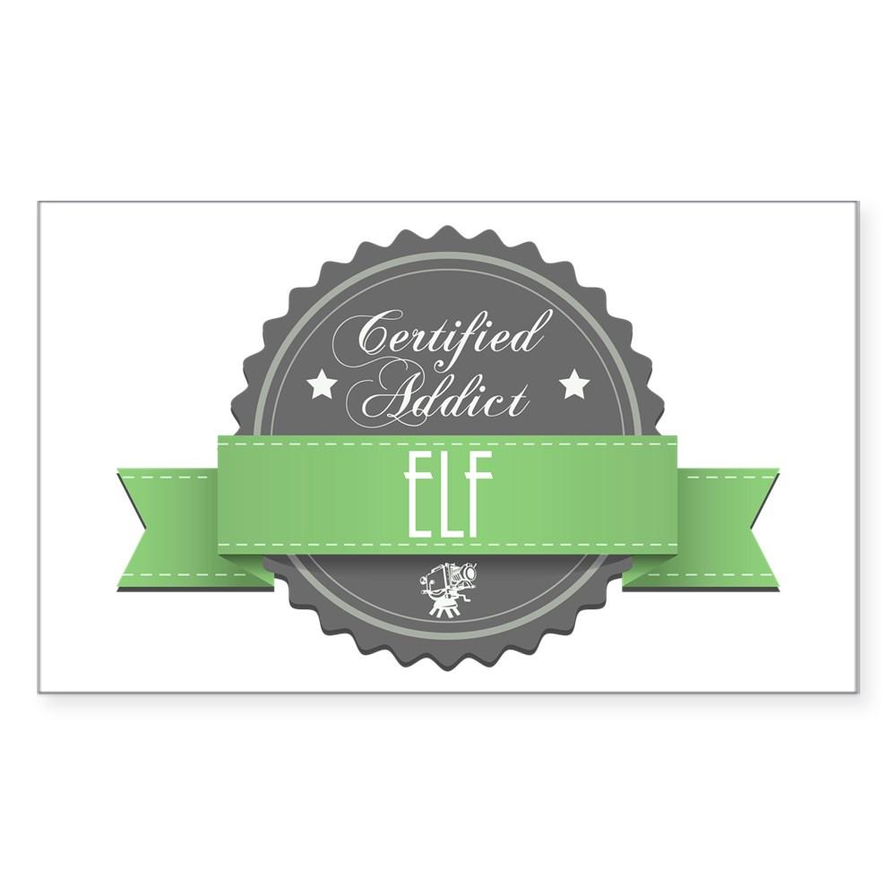 Certified Addict: Elf  Rectangle Sticker