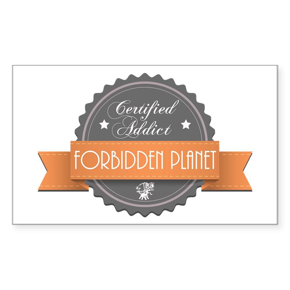 Certified Addict: Forbidden Planet Rectangle Sticker