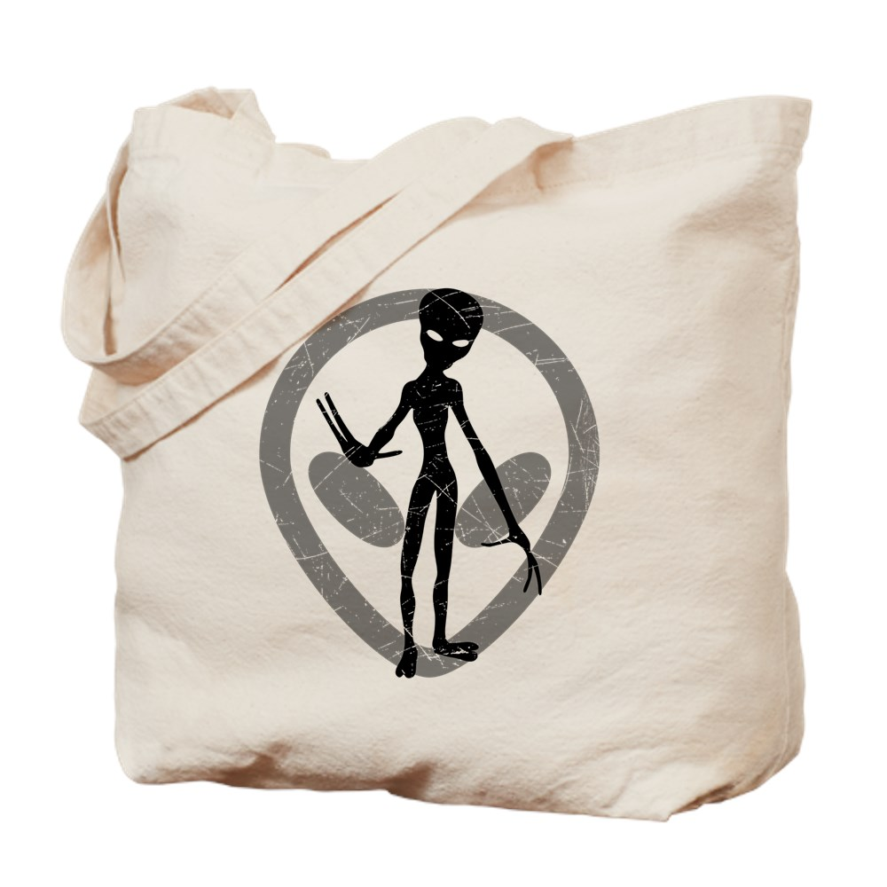 Distressed Alien Tote Bag