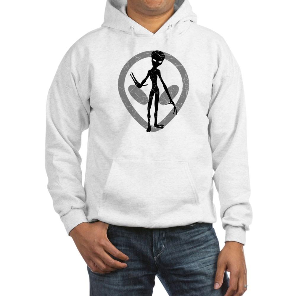 Distressed Alien Hooded Sweatshirt